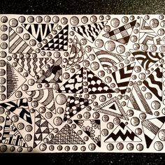 My zentangle art by Linda Hallett.