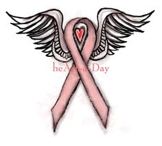 Breast Cancer Ribbon Tattoos With Angel Wings Wing Tattoo Designs, Tattoo Design Drawings, Best Tattoo Designs, Cartoon Dog Drawing, Drawing Disney, Disney Drawings, Band Tattoos, Heart Tattoos, Tatoos