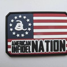 American infidel nation flag pvc patch