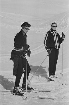 #AlainDelon #RomySchnaider #ski #vintage