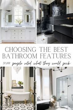 We polled 10,000 followers about every bathroom remodel decision. These answers surprised us! Plus, tons of the best bathroom design insight.