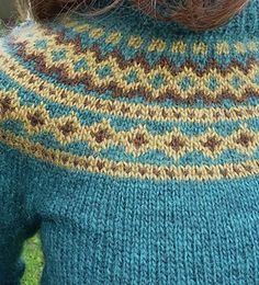 Derravaragh – Lopapeysa pattern by Richella Duggan – Knitting patterns, knitting designs, knitting for beginners. Fair Isle Knitting Patterns, Fair Isle Pattern, Knitting Stitches, Knit Patterns, Free Knitting, Stitch Patterns, Sock Knitting, Vintage Knitting, Tejido Fair Isle