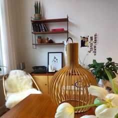 New in: Lampe! Ich bin verliebt emoji #interior #altbau #shelfie #flowers #vintage #urbanara @ni.kohle