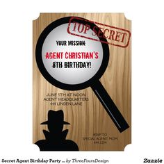 Nice 7th birthday party invitation wording download this invitation secret agent birthday party invitations filmwisefo