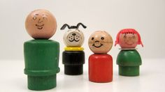 Vintage Fisher Price Little People Wood Head Wood by ThePantages, $25.00