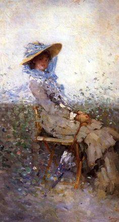 Woman in the Garden ~ Nicolae Grigorescu ~ (Romanian: Victorian Art, Woman Painting, Famous Artists, Artist Art, Love Art, Unique Art, New Art, Sculpture, Art Gallery