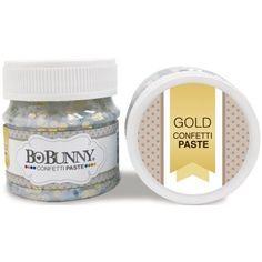 Bo Bunny Double Dot Confetti Paste 1.69oz Gold