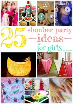 25 Giggle-Inducing Slumber Party Ideas For Girls – Page 3 – Play Ideas Slumber Party Crafts, Slumber Party Activities, Girls Sleepover Party, Sleepover Activities, Activities For Girls, Slumber Party Ideas, Sleep Over Party Ideas, Slumber Party Birthday, Sleepover Birthday Parties