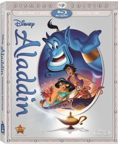 Aladdin: Diamond Edition (Blu-ray/DVD/Digital HD) Climb aboard for a magical carpet ride with nonstop laughs, action-packed adventure and Academy Award(R) Aladdin Film, Aladdin 1992, Watch Aladdin, Disney Movie Club, Disney Movies, Robin Williams, Scott Weinger, Disney Blu Ray, Movies