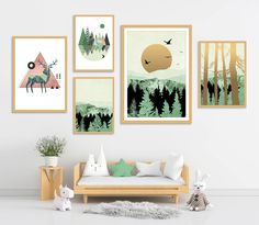 Gallery Wall Set of 5 Scandinavian Abstract Prints, Mid Century Modern Wall Art, Landscape Prints, Minimalist Green Nursery Printable Art Marble Print, Landscape Prints, Green Art, Modern Wall Art, Geometric Art, Nursery Wall Art, Printable Art, Wall Art Prints, Scandinavian