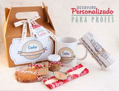 Lola Wonderful_Blog: Desayunos personalizados, regala sonrisas matutinas. Lola Wonderful, Breakfast Basket, Surprise Box, Edible Gifts, Teachers' Day, Ideas Para Fiestas, Party In A Box, Food Places, Little Gifts