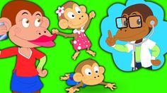 Five Little Monkeys | Fünf kleine Affen | Kinder Reime | beliebte Kinder... hey peuters hier zijn ondeugend vijf kleine apen plezier. wilt u hen aan te sluiten? dus kom lets have some fun #kids #toddlers #rhymesforkids #parenting #kidslearning #ohmygeniusdeutschland #preschool #kindergarten #fivelittle #monkeys
