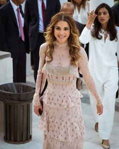 August 31, 2016..♔♛Queen Rania of Jordan♔♛...Amman Design Week at Ras Al Ain Gallery and Hangar Amman