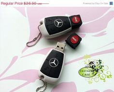 SALE Mercedes Benz Key USB Flash Drive 8Gb , Cute USB Flash Drive , Memory Stick , Accessories