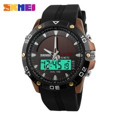 Hot Sale SKMEI Brand Solar Energy Watch Men Dual Display Quartz Digital Multifunction Waterproof LED Military Sport Watches Men