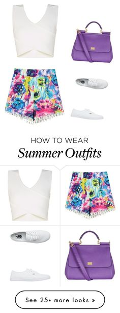 """Summer outfit"" by sofiefashion123 on Polyvore featuring BCBGMAXAZRIA, Dolce&Gabbana and Vans"