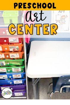 Come take a sneak peek at what is inside my preschool art center.
