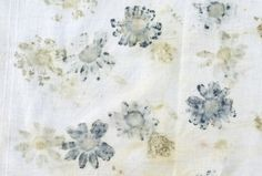 Vintage fabrics and natural printing. Salvaging fabrics so that they can be reused, in direct opposition to throw away society.