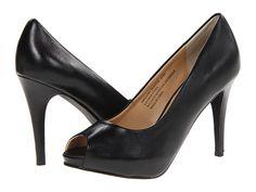 rsvp Spencer Peep Toe Pump Black Leather - 6pm.com