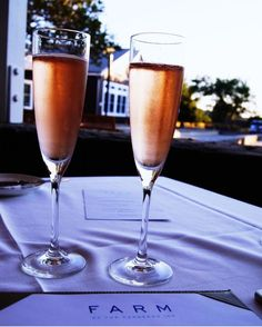 """""""The perfect way to start off the night at FARM with local Napa Valley Chandon sparkling rosè"""" - @thehungryblondie"""