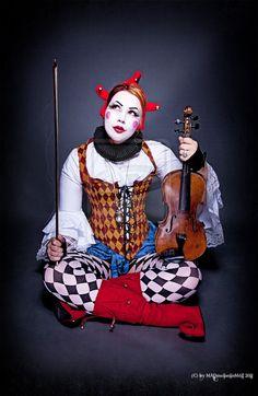 Modern Clown :: Harlequin II by *MADmoiselleMeli on deviantART