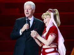 Barbara Eden dusted off her genie garb for Saturday's Life Ball charity event in Vienna. It's been more than 40 years since she hung up her then-controversial crop top and harem pants when the sitcom wrapped in 1970 after five seasons. But on Saturday, the actress, 78, even revisited that iconic braided 'do. Eden tried on the costume after she received the call asking her to attend the star-studded event, whose roster included former President Bill Clinton (with whom Eden shared the stage).