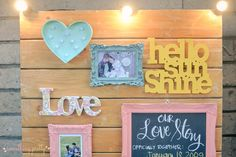 Welcome Area for Patrick and Iris' Rustic Wedding Wedding Events, Weddings, Event Styling, Our Love, Iris, Rustic Wedding, Frame, Pretty, Picture Frame