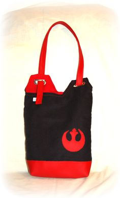 Dark side of the Force - unique tote bag by KurkArtCraft on Etsy