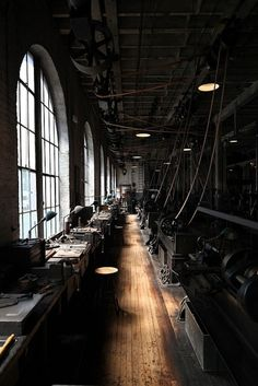 factory of the past. I can imagine the humming of the machines and the activity of the men at work.