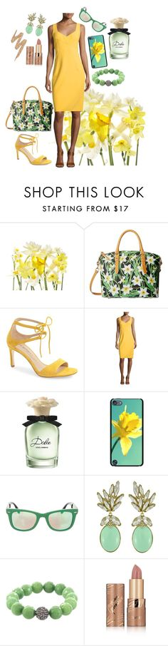"""""""Daffodil"""" by danceofthesoul ❤ liked on Polyvore featuring Dooney & Bourke, Via Spiga, Michael Kors, Dolce&Gabbana, Casetify, Ray-Ban, Ciner, Fox and Baubles, tarte and Urban Decay"""