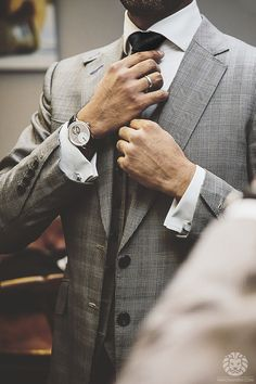 """watchanish:  Arnold & Son """"UTTE"""" x Suit byOxborough Tailors on Saville Row.More of our footage atWatchAnish.com."""