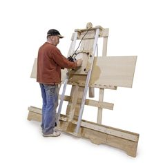 Deluxe Panel Saw Kit - Wall Mount Version - Build your own panel saw accurate to Cut wood and plastic sheet goods quickly, accurately, and safely. Woodworking Jigsaw, Woodworking Equipment, Woodworking Projects, Circular Saw Reviews, Best Circular Saw, Serra Circular, Panel Saw, Tool Bench, Quality Cabinets