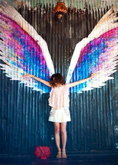 Street Art...'Angel Wings' by Colette Miller, Los Angeles.