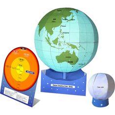 Free Download PDF DIY 3D Model Papercraft Globe,Science,Paper Craft,Asia / Oceania,Japan,blue,Earth,globe,moon