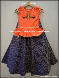 tops and skirt designs by Angalakruthi boutique bangalore designer boutiquw with online order placement service and international shipment service Dresses Kids Girl, Kids Outfits, Kids Lehenga Choli, Kids Blouse Designs, Kids Ethnic Wear, Kids Frocks Design, Kids Dress Patterns, Kids Gown, Frock Design
