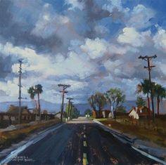 "Daily Paintworks - ""Storm Passing"" - Original Fine Art for Sale - © Karen Werner"