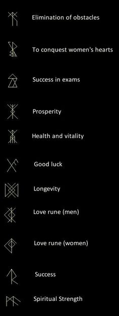 Runes - tattoo inspiration. More