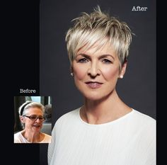 before and after bettjemans hairdressers auckland hair and beauty Haircuts For Fine Hair, Hairstyles Over 50, Cute Hairstyles For Short Hair, Girl Haircuts, Short Hair Styles, Trendy Hairstyles, Short Choppy Hair, Short Sassy Hair, Hairstyles Haircuts