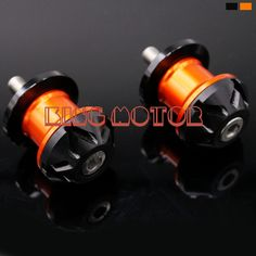 For KTM DUKE 125/200/390 RC200/390 Orange Motorcycle Accessories 10mm CNC Aluminum Swingarm Spools slider Orange