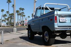 Ford Bronco at Garage 77 in Los Angeles Ford Bronco, Garage, Van, Vehicles, Carport Garage, Ford Bronco Lifted, Garages, Car, Vans
