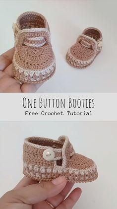 crochet baby boots Want to crochet something cute and useful? Look what we have today for you with free video tutorial. if you have a baby or your friend has a newborn this post is f Crochet Baby Boots, Crochet Baby Sandals, Booties Crochet, Crochet Baby Clothes, Crochet Shoes, Crochet Slippers, Newborn Crochet, Baby Booties Free Pattern, Baby Shoes Pattern