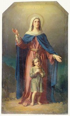 Vierge Marie et l'enfant Jésus
