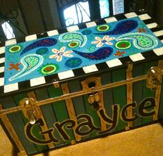 Calling All Sleepyheads: Getting Ready for Summer Camp- Paint Your Own Footlockers!