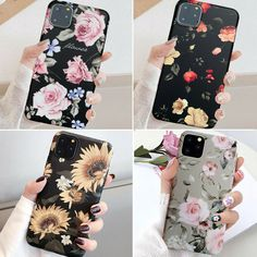 Iphone 11 Pro Max 8 Plus 7 Plus XS Max XR Slim Floral Cute Girl Phone Case Cover - Floral Iphone Case #FloralIphoneCase Girl Phone Cases, Cute Phone Cases, Iphone 11, Iphone Cases, Cute Love Heart, Floral Iphone Case, Slim, Lace Flowers, 7 Plus