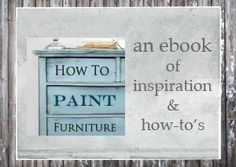 Handy hints on how to paint your preloved furniture. Wasnt sure whether to put here or under DIY...