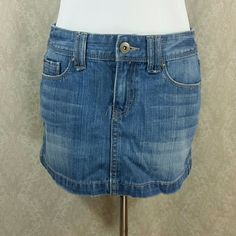 Aeropostale Denim Skirt Distressed look. Size reads 5-6 Aeropostale Skirts Mini
