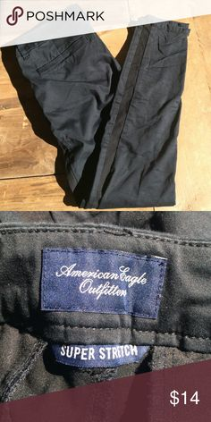 American Eagle super stretch tuxedo pants Good condition. Size 6. Casual black Tuxedo pants. American Eagle Outfitters Pants Straight Leg