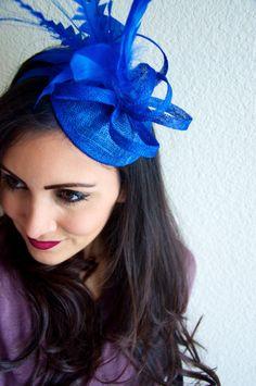 Royal Blue Mini Fascinator  Arriana Mini Royal Blue by EyeHeartMe, $44.00