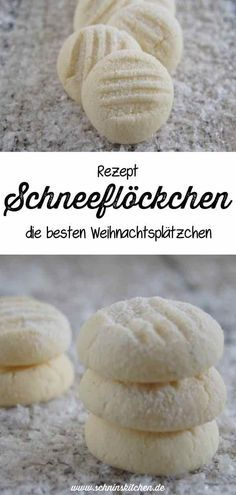 Schneeflöckchen - feine Plätzchen - Schnin's Kitchen Hornear copos de nieve para Navidad: una gran receta de galletas navideñas tiernas y mantecosas para el café de Adviento. Easy Cookie Recipes, Cupcake Recipes, Baking Recipes, Great Recipes, Kitchen Recipes, Dinner Recipes, Snowflake Christmas Cookies, Best Christmas Cookies, Pasta Integral