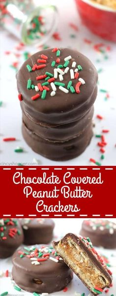 christmas candy Since these Chocolate Covered Peanut Butter Crackers are made with just 3 ingredients, they are so simple to make. Perfect for a quick and easy Christmas candy treat. they are great for a homemade candy gift too! Christmas Snacks, Christmas Cooking, Christmas Candy, Christmas Christmas, Christmas Recipes, Christmas Turkey, Christmas Crackers, Christmas Brunch, Christmas Goodies